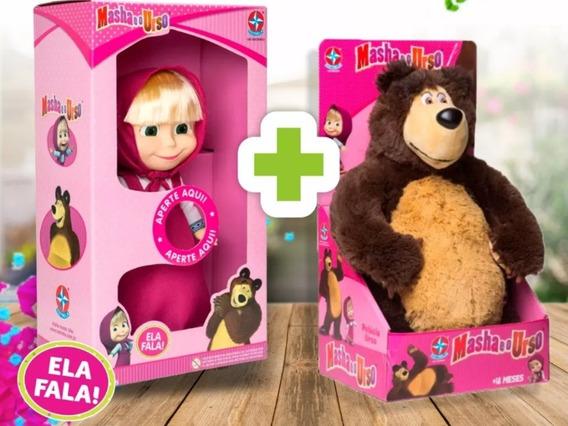 Boneca Masha + Pelúcia Urso - Estrela