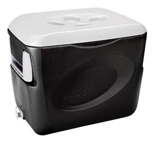 Caixa Térmica Cooler 45 Litros Preto Alças Original Invicta