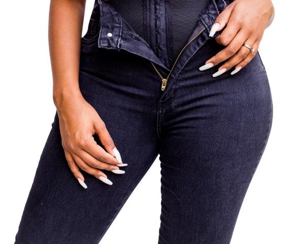 Calca Jeans Feminina Super Lipo Sawary Cintura Alta Envio Já
