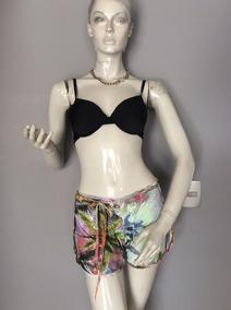 :::. Bikini Short Floreado, Brasileño, Talla M. :::