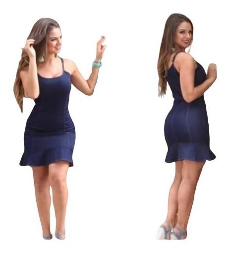 Vestido Jeans Feminino C/ Lycra