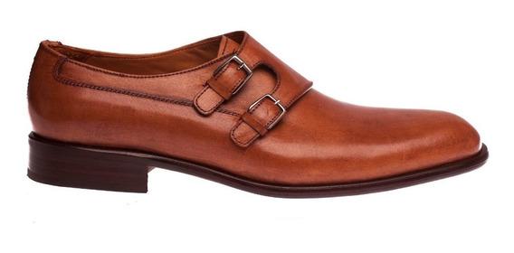 Tremendo Zapato Sport Doble Hebilla Suela Marron