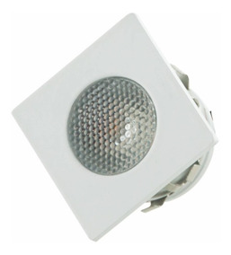 20 Mini Spot Led Quadrado 1w 2700k Luz Amarela Móveis G-ligh