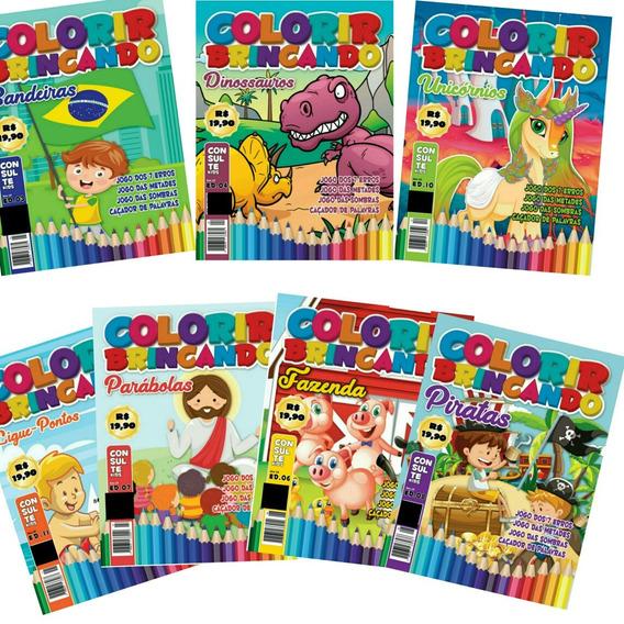 120 Livrinhos,revistas Colorir Infantil Atacado,melhor Preço