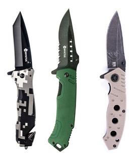 Kit 3 Canivetes Invicuts Phanton, Jag E Cascavel - Invictus