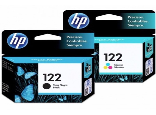 Combo Cartucho Hp 122 Negro + 122 Color Originales