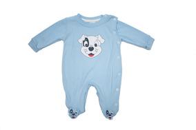 Macacão Infantil Masculino Cachorrinho - Baby Bee-azul-claro