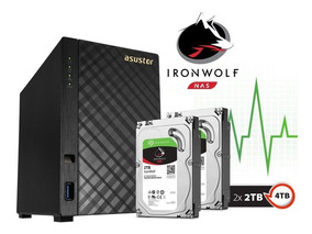 Nas Asustor As1002t4000 V2 Marvell Dual Core Torre 4tb