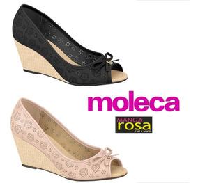 Sapato Feminino Peep Toe Moleca 5270842