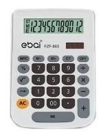 Calculadora De Mesa 12 Dígitos Cinza Ebai Porcentagem Fzf-88