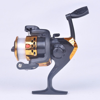 Molinete 3 Rolamento Electroplate Spinning Fishing Reel Carp