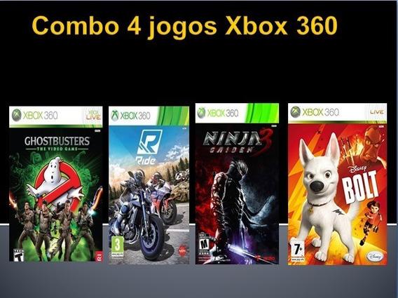 Jogos Xbox 360 Caça Fantasmas, Ride, Ninja Gaiden 3 E Bolt