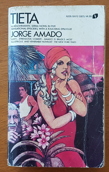 Livro Tieta Inglês Jorge Amado Editora Avon