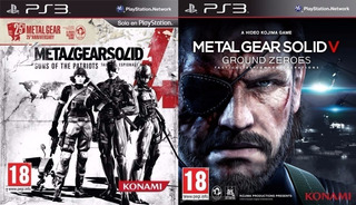 Metal Gear Solid 4 Guns Of The Patriots + Ground Zeroes Ps3
