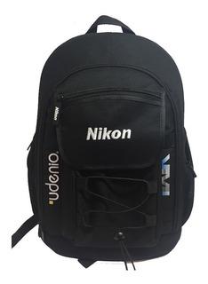 Mochila Fotografía Bolso Nikon Udenio Producto Oficial