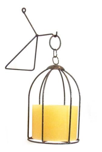 Gaiola N°1 Luminária Lanterna Porta Vela Decorativa Castiçal
