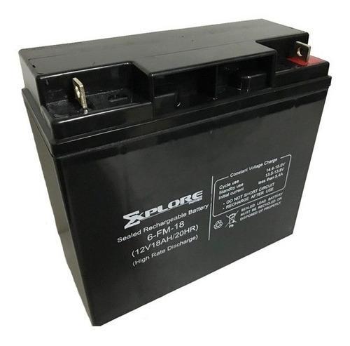Imagen 1 de 1 de Bateria Explore 12v 18ah Para Ups Cercos Electricos Lamparas