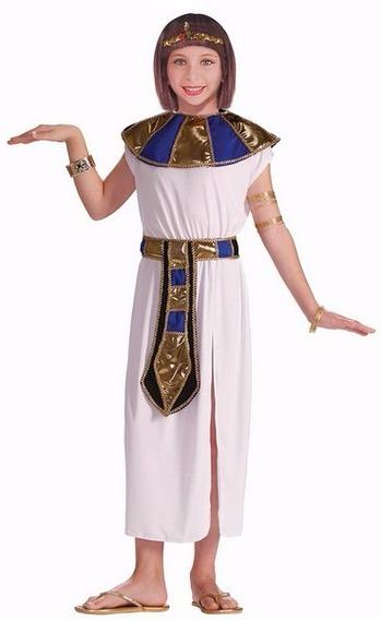Fantasia Egípcia Luxo, Cleópatra Infantil - Ange