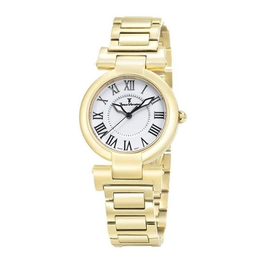 Relógio Jean Vernier Feminino Ref: Jv1065 Fashion Dourado