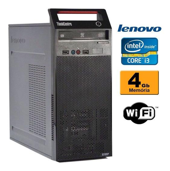 Cpu Lenovo Torre A70 Core 2 Duo 2.6 4gb Ddr3 Gravador Wifi