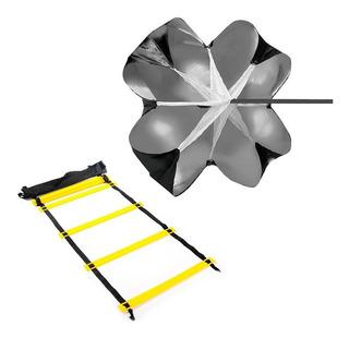 Pack Funcional Escalera Mas Paracaídas Fitness Crossfit