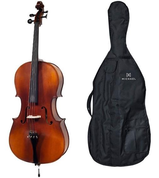 Violoncelo Cello 4/4 Profissional C/ Bag Michael Vom140