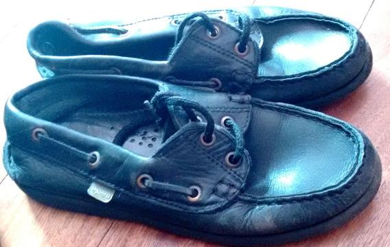 Zapatos Colegial 36 Marcel -hush Puppies Negros Cordon Caba
