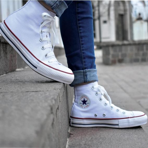 Zapatillas Converse All Star Botitas Blancas Unisex
