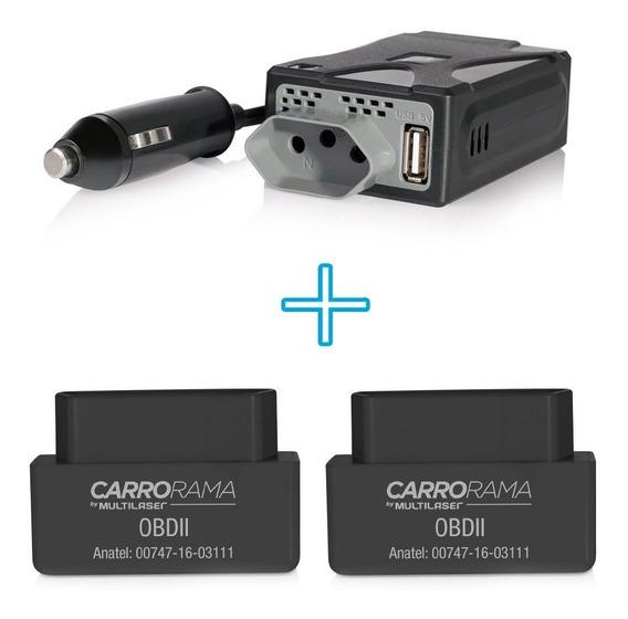 2 Scanner Computador De Bordo + 1 Inversor De Potencia 220v