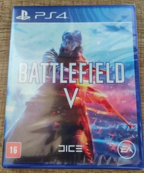 Battlefield 5 V Ps4 Mídia Física Lacrado Pt-br + Brinde