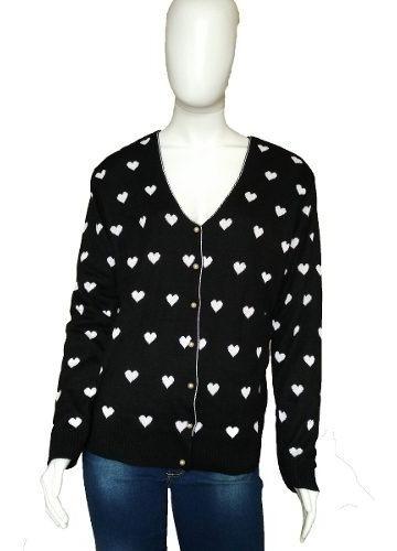 Casaquinhos Lã Blusas Cardigã Botões Estampas Feminino