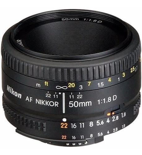 Imagem 1 de 6 de Lente Nikon Af Nikkor 50mm F/1.8d Garantia F1.8 12x S/juros