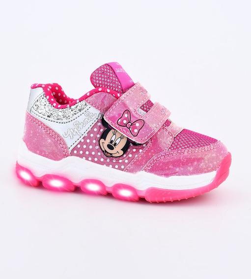 Zapatillas Footy Disney Minnie Fucsia Con Luces Fx300