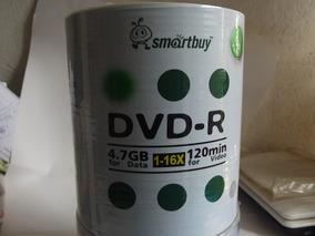 100 Midia Dvd-r 120m Smartbuy Logo 4.7gb
