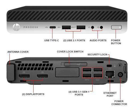 Hp Prodesk 600 G3 Desktop Mini I5-6500u 2.50ghz, 8gb Ssd 240
