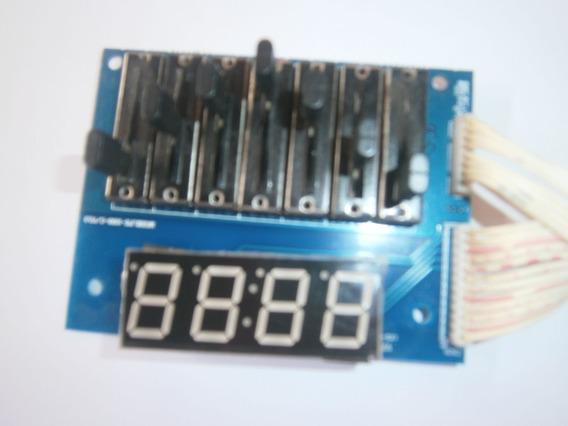 Placa Display Equalizador Caixa Nks Pk1000 Usado 100% Funcio