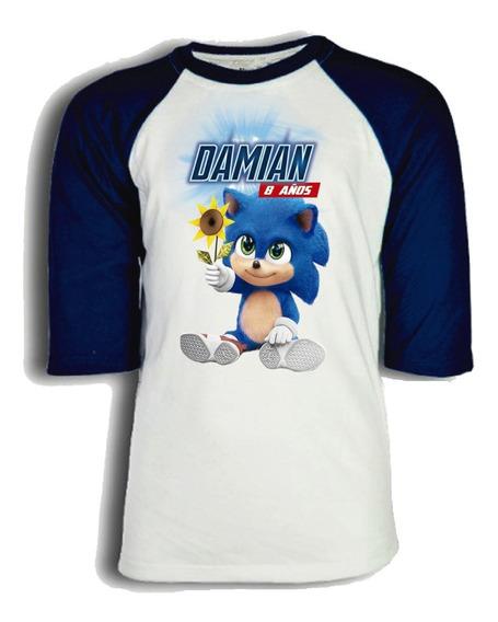 Playera Sonic Personalizada Para Niño, Dama O Caballero