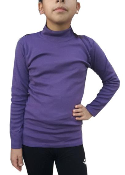 Camiseta Media Polera Niños Lisas Talle 10-12-14-16