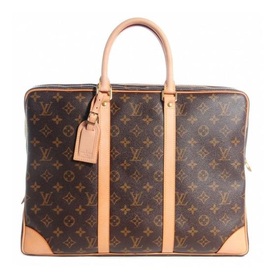 Pasta Masculina Louis Vuitton Voyage Monogram Couro Legítimo C/ Código Série Premium Top Acompanha Dust Bag Envio 24 Hr