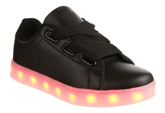 Zapatilla Unisex Luces Led Usb Recargables Teen Muaa Iri