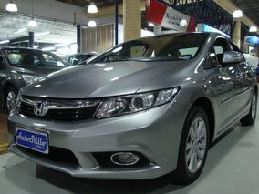 Honda Civic Lxl 1.8 Flex 2012 Automático Cinza (completo)