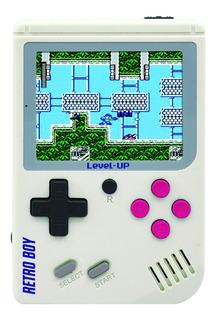 Consola Level Up Retro Boy Blanca 168 Juegos 8gb
