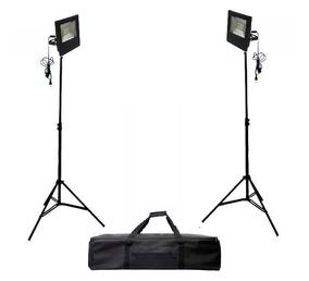 Kit Iluminação Led (2x30w)=60w+ 2 X Tripé Iluminação 2m+ Bag