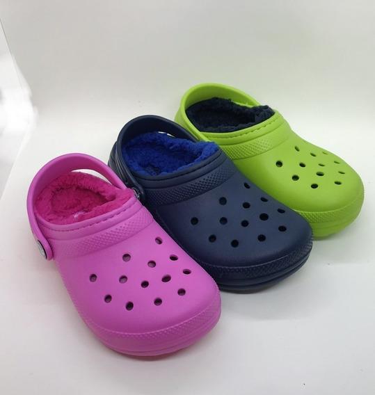 Zuecos Con Piel Crocs Kids