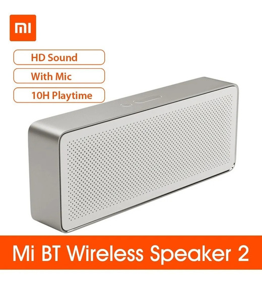 Xiaomi Mi Bt Speaker Square Box 2 Estéreo Portátil Cor Prata