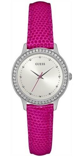 Relógio Feminino Guess Couro Rosa 92582l0gdnc8 C/ Nfe