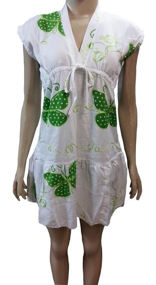 Vestido Saida De Praia Japonesa C/regulagem No Busto V.cores