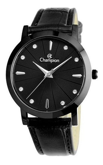 Relógio Feminino Champion Pulseira Couro Classico Cn24226n
