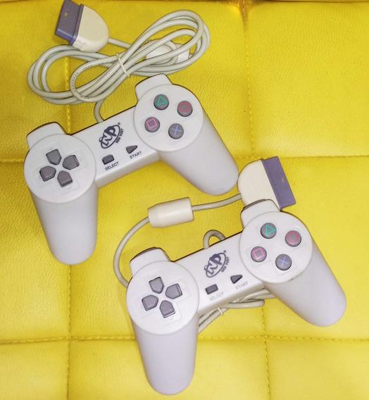 2 Controles De Playstation 1 Ps1 E Ps2 Mais Jogo De Brinde