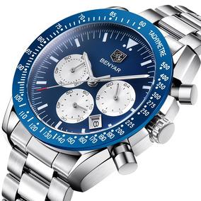 689d72eef019 Reloj Hombre Benyar Correa De Cuero Exquisito Acero Inox. 1 vendido -  Distrito Federal · 2018 Moda Hombre Reloj Fecha Cronógrafo Relojes  Deportivos